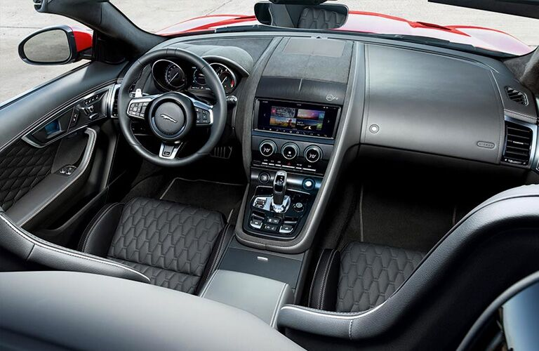 2019 Jaguar F-TYPE Convertible Steering Wheel, Dashboard and Touchscreen Display