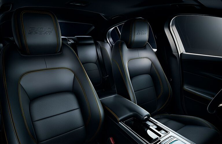 2019 Jaguar XE 300 Sport Black and Yellow Luxury Interior