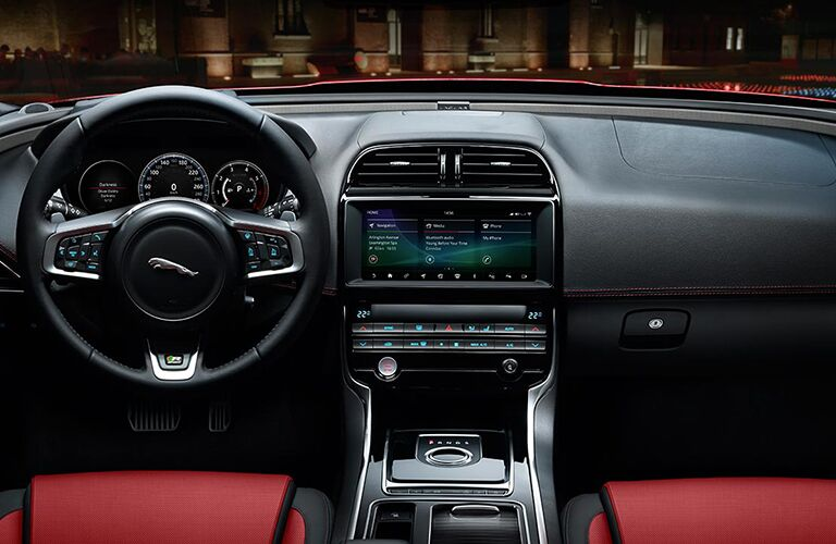 2019 Jaguar XE Steering Wheel, Dashboard and Touchscreen Display