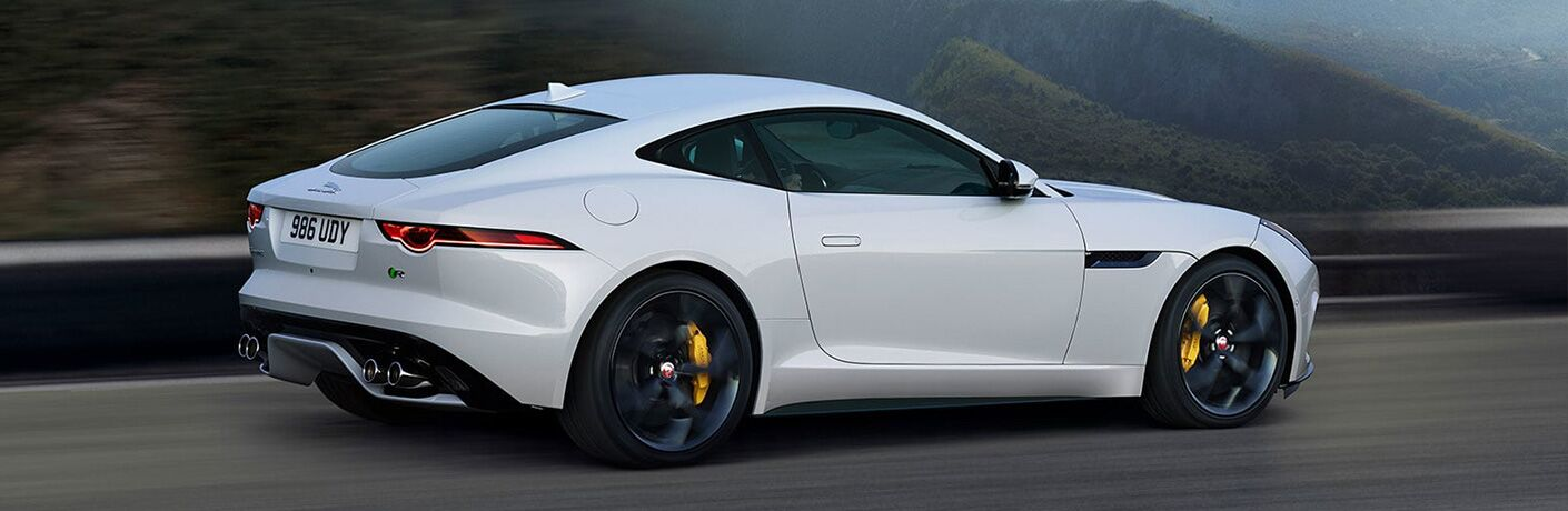 2020 Jaguar F-Type going down the road