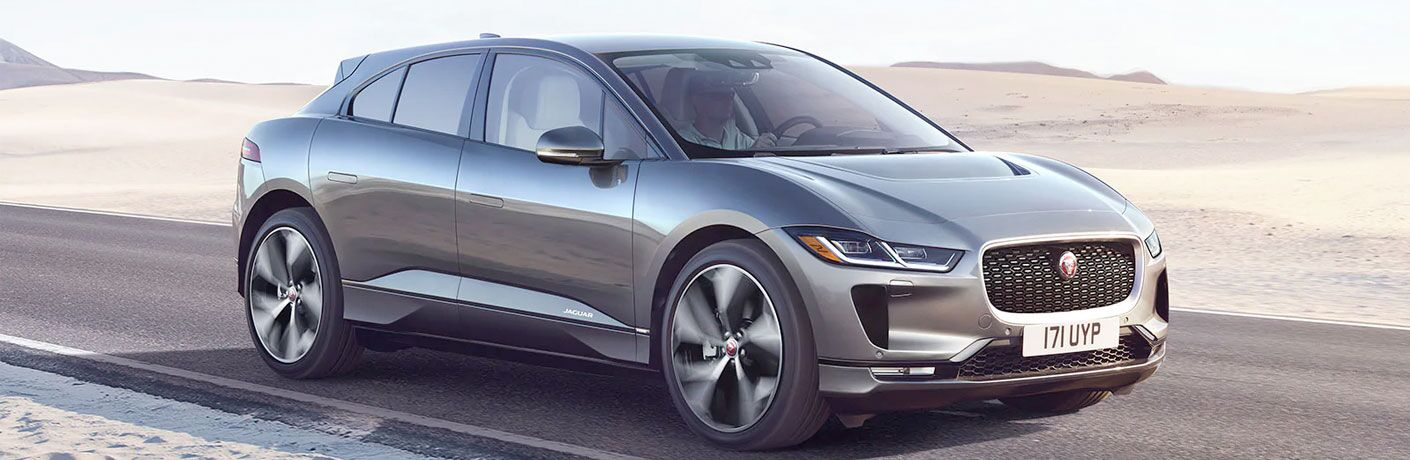 2020 Jaguar I-PACE cruising down the road