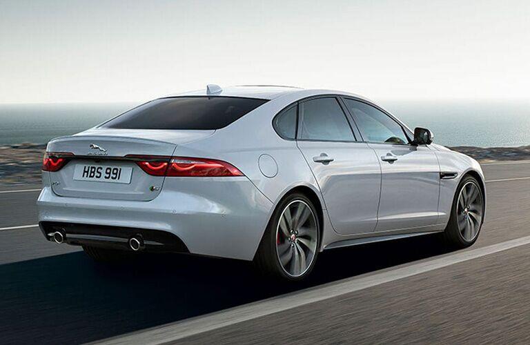 2020 Jaguar XF driving away