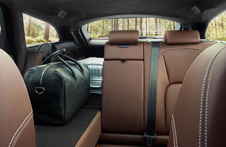 2020 Jaguar XF back seat with one seat folded down