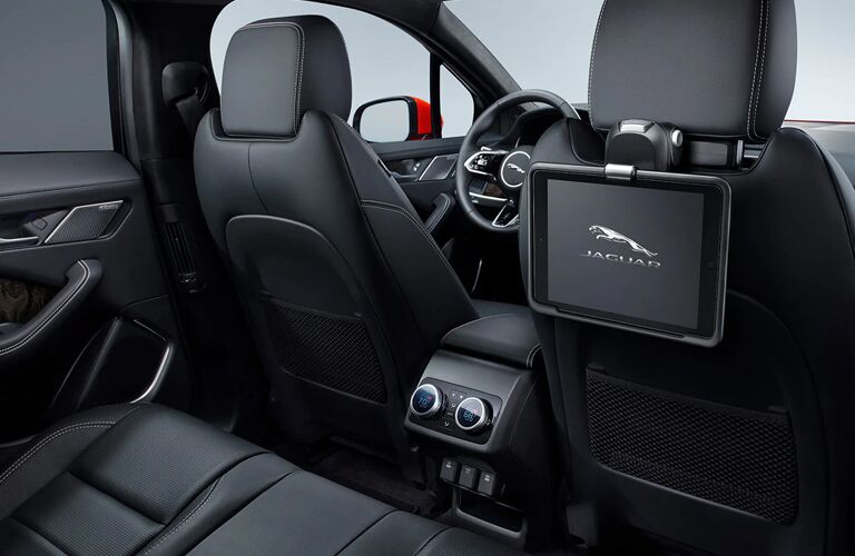 2020 Jaguar I-PACE view of front seats from back seat