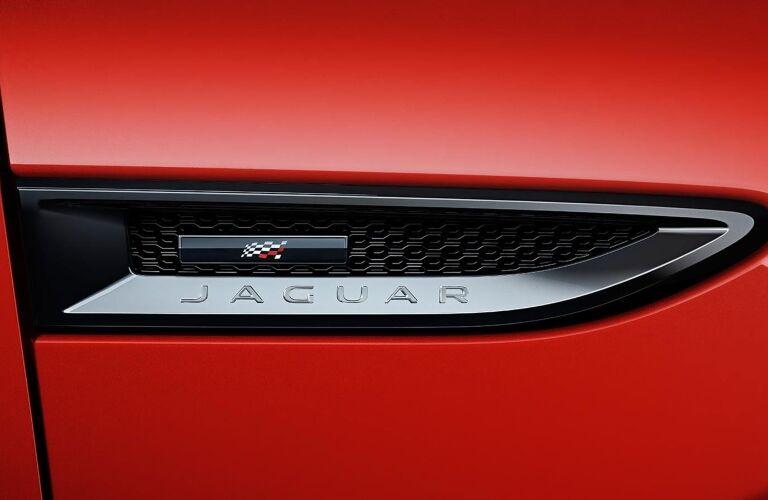 2020 Jaguar E-PACE Checkered Flag Edition Jaguar badge