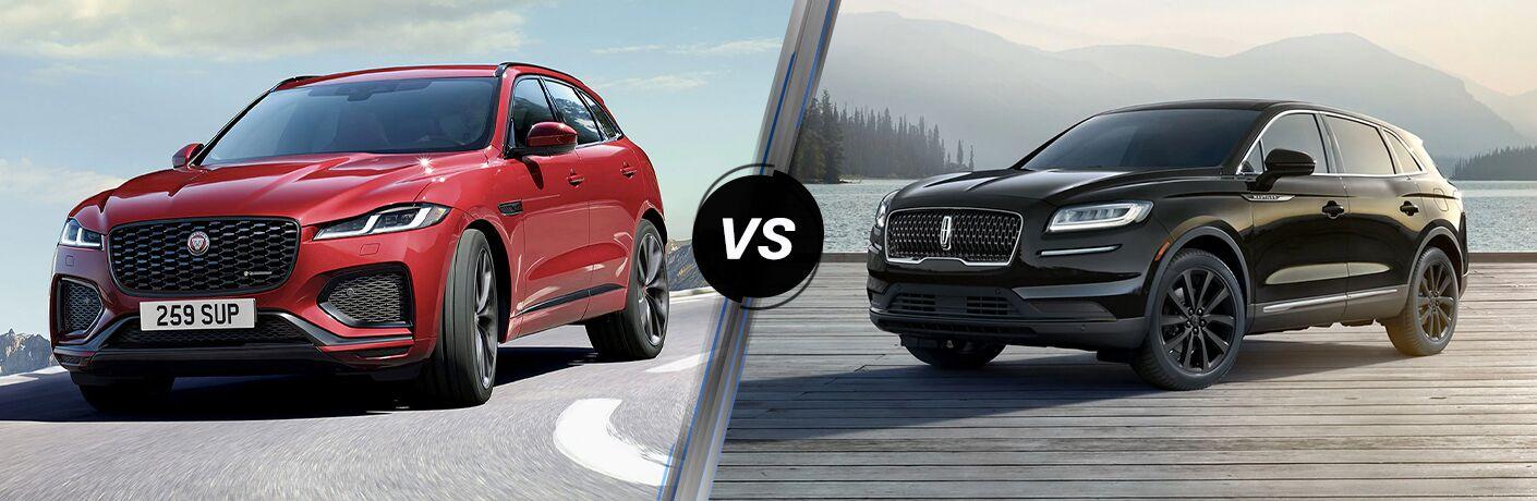 2021 Jaguar F-PACE vs 2021 Lincoln Nautilus