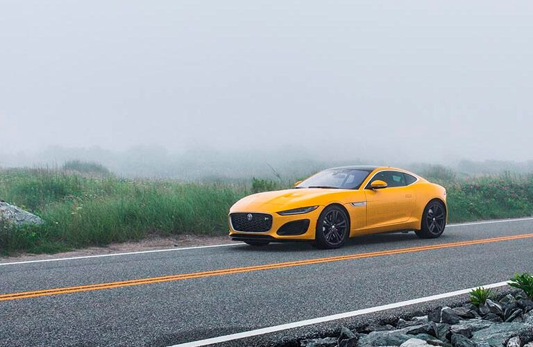 2022 Jaguar F-TYPE going down the road