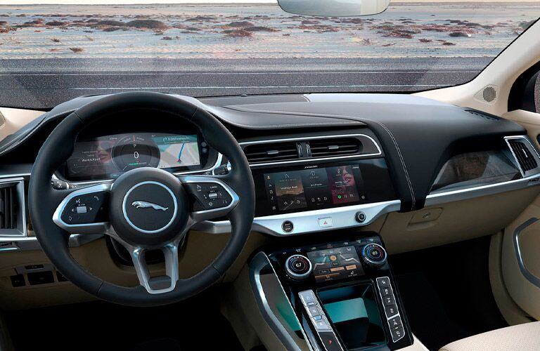 2022 Jaguar I-PACE dashboard and center console