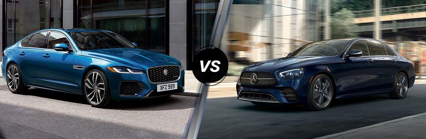 2021 Jaguar XF vs 2021 Mercedes-Benz E-Class