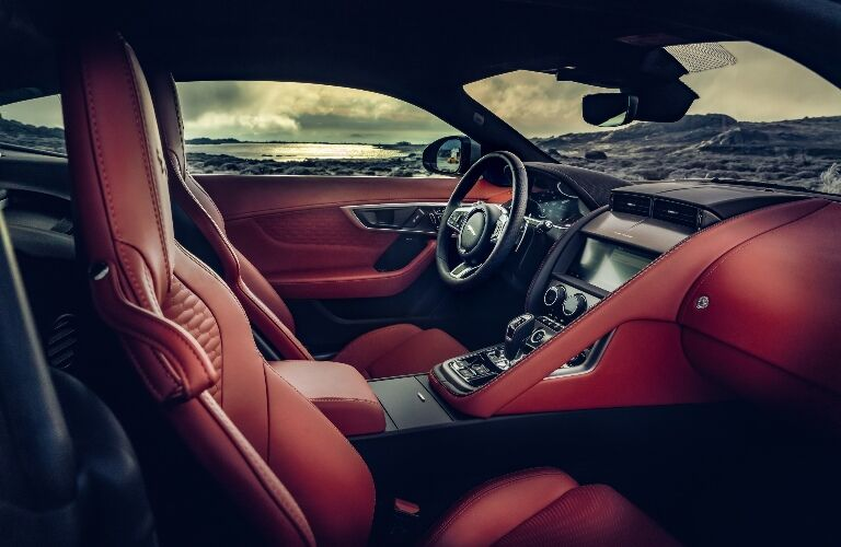 Front seats in the 2021 Jaguar F-TYPE