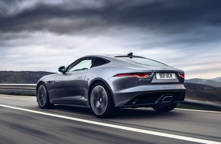 2021 Jaguar F-TYPE driving away