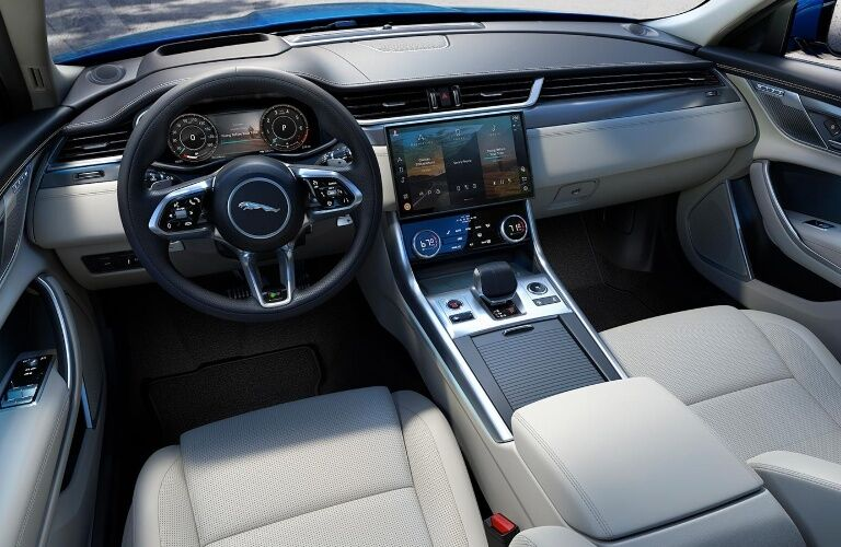 Dashboard of the 2021 Jaguar XF