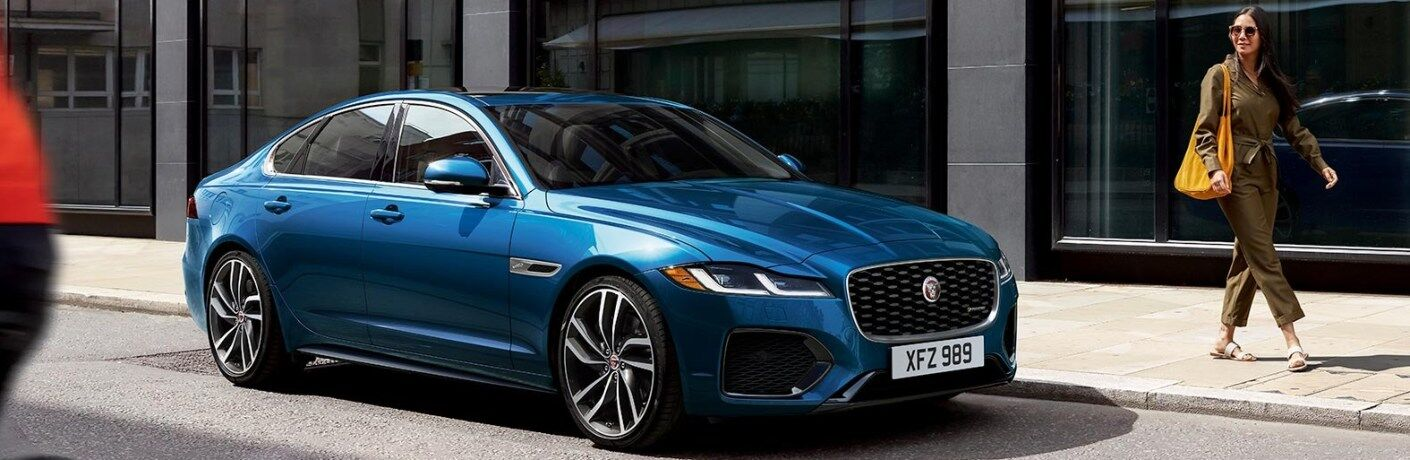 2021 Jaguar XF parked on the side of the road