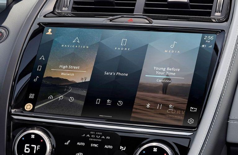The touchscreen inside the 2022 Jaguar E-Pace.