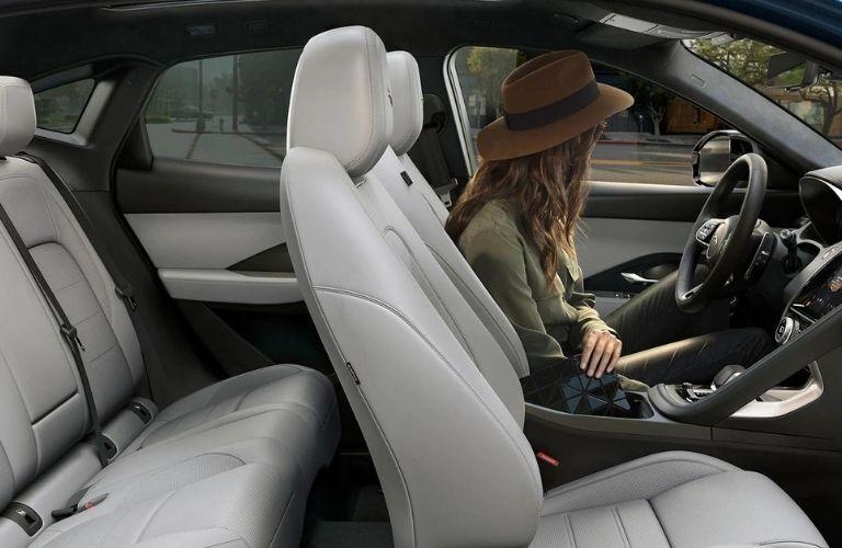 The seats inside the 2022 Jaguar E-Pace.