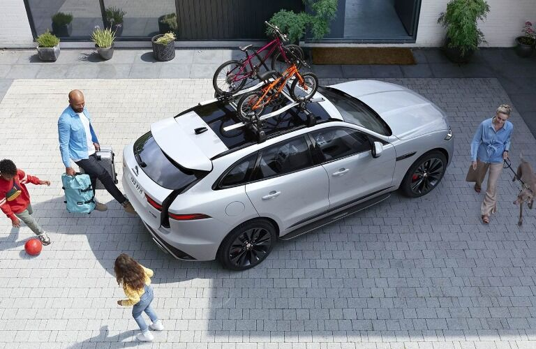 Family loading up the 2021 Jaguar F-PACE