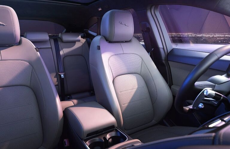 Front and back seats in the 2021 Jaguar E-PACE