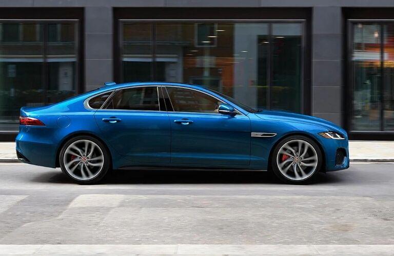 Profile view of the 2021 Jaguar XF