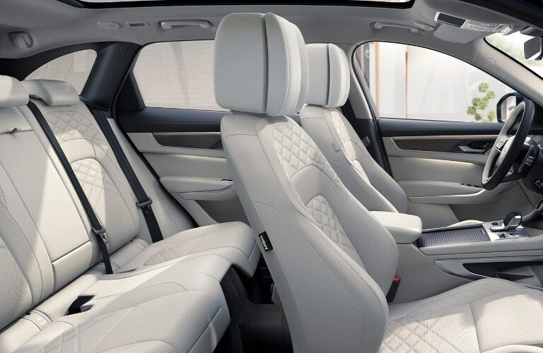 Seats inside of the 2021 Jaguar F-PACE