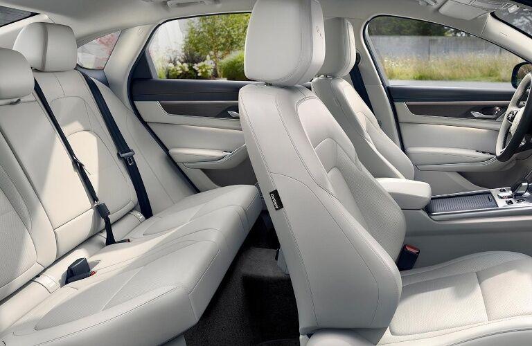 Seats inside of the 2021 Jaguar XF