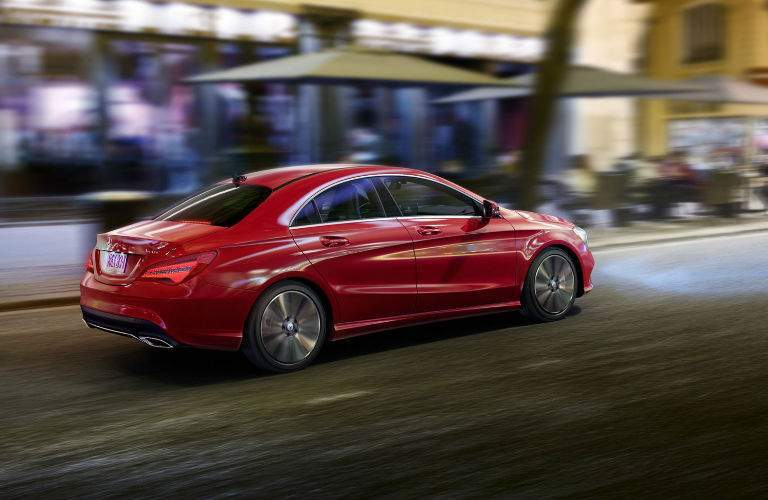 2018 CLA Coupe in Red