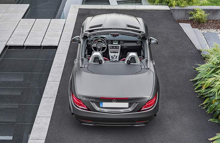 2018 SLC Roadster in silver bird's-eye view
