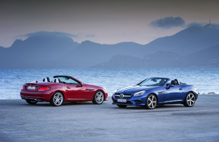 2017 Mercedes-Benz SLC cars with tops down