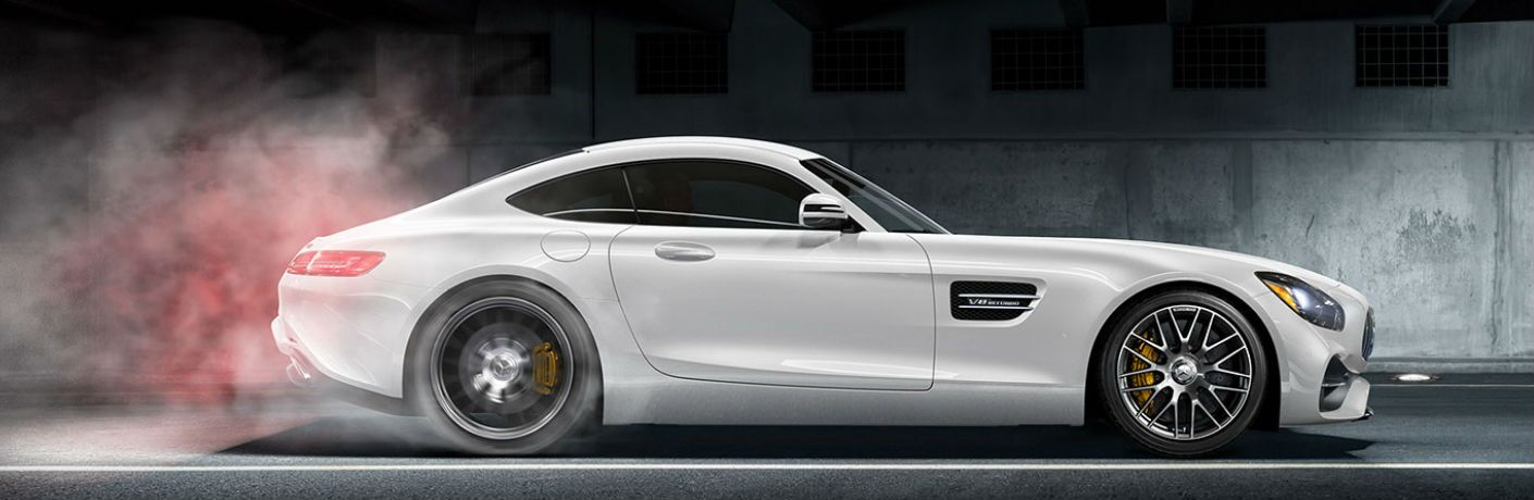 2018 AMG GT S Coupe in White - Side View