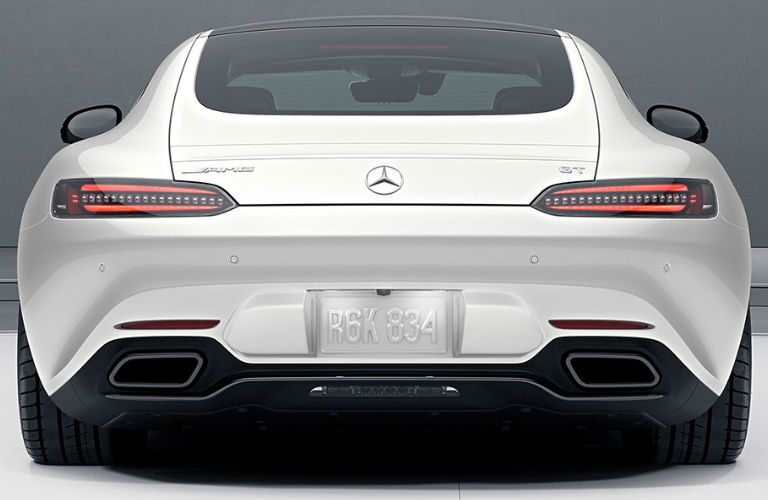 2018 AMG GT S Coupe in White - Rear View