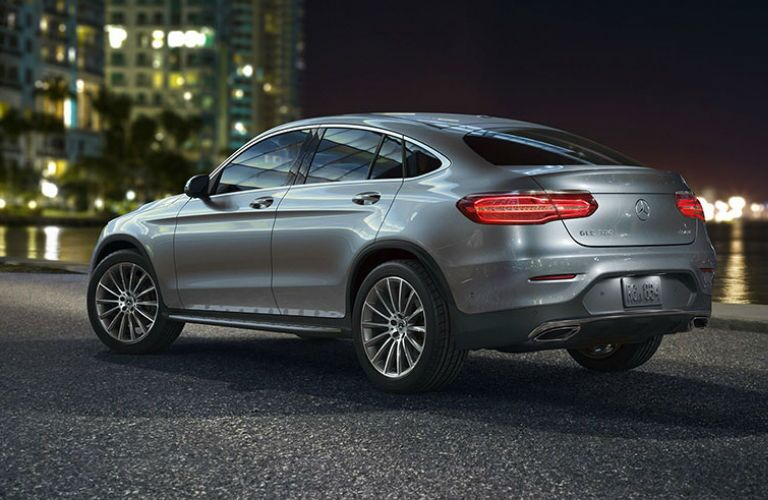2018 GLC Coupe in Silver Rear View