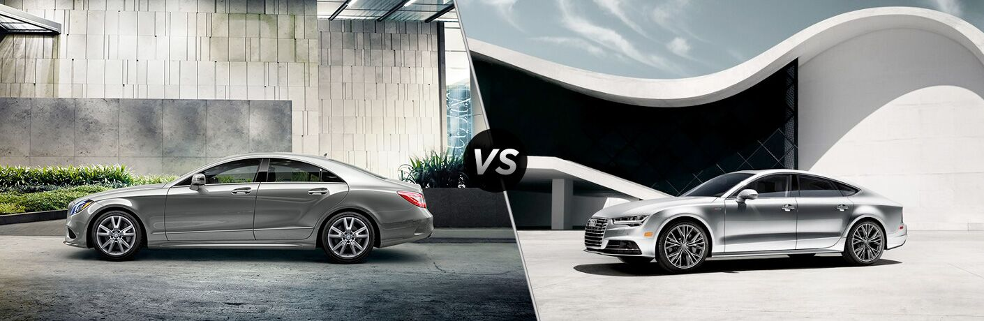 2018 CLS 550 Coupe in Silver vs 2018 Audi A7 in Silver