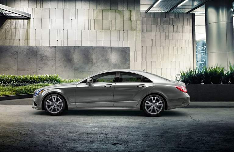 2018 CLS Coupe in Silver Side View