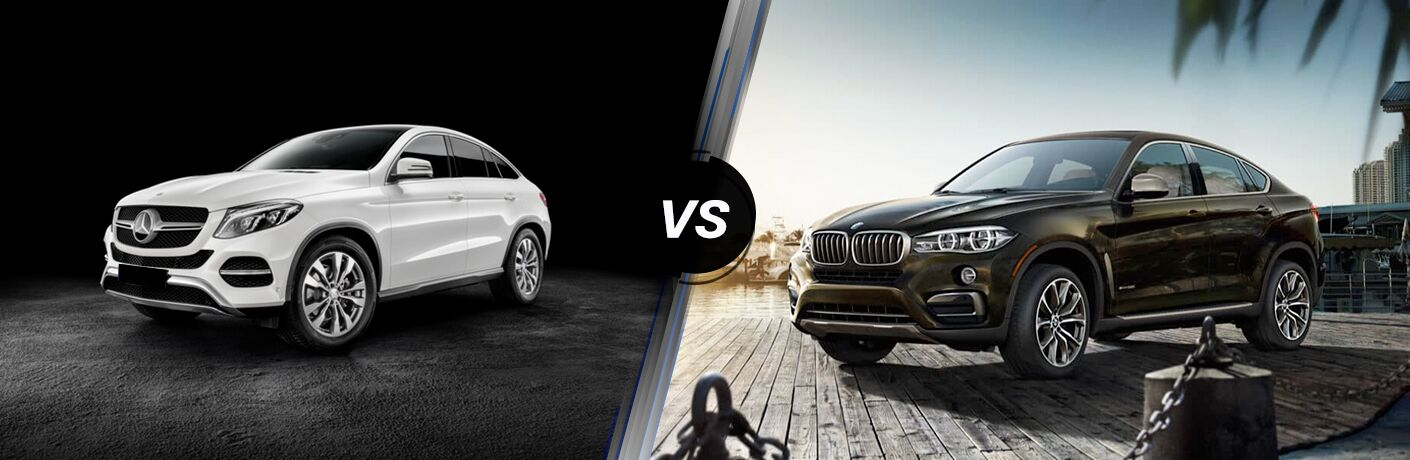 2018 GLE Coupe In White Vs 2018 BMW X6 In Brown