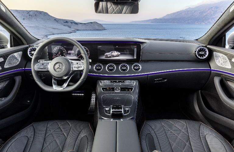 2019 CLS Coupe command center - black interior