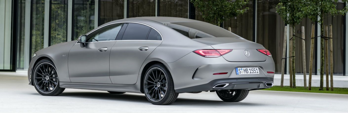 2019 CLS Coupe in Silver - Rear/Side View