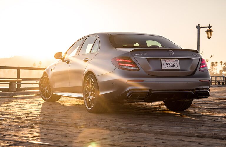 2019 MB AMG E 63 S exterior back fascia and drivers side