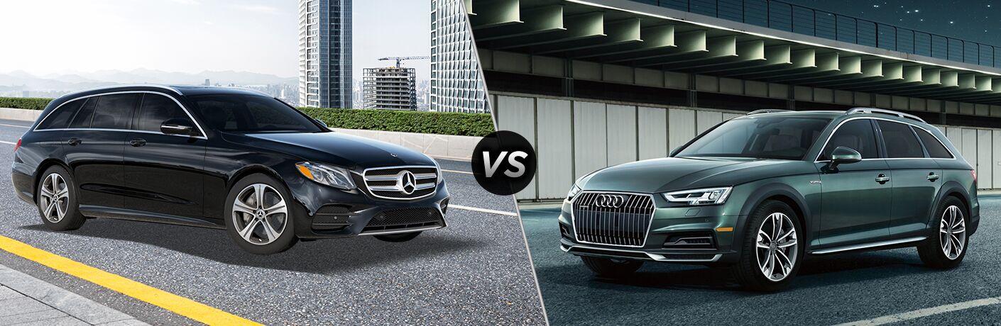 2019 mercedes benz e class wagon vs 2019 audi a4 allroad. Black Bedroom Furniture Sets. Home Design Ideas