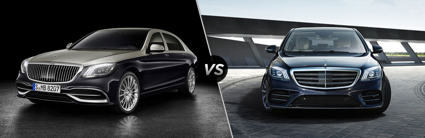 2019 MB S-Class exterior front fascia and drivers side vs 2018 MB S-Class exterior front fascia
