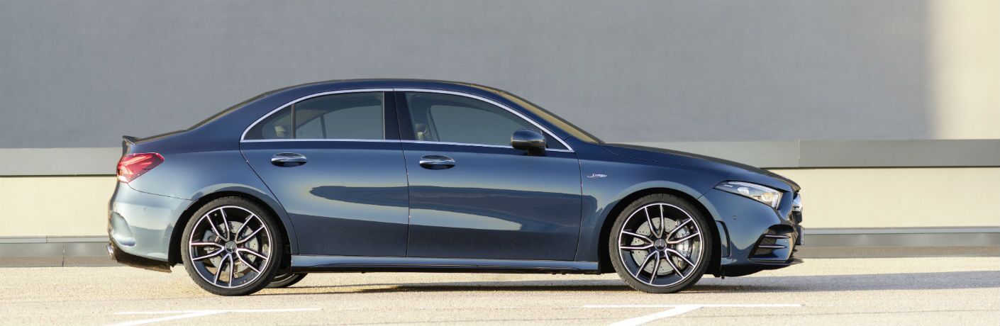 2020 MB AMG A-Class exterior passenger side profile