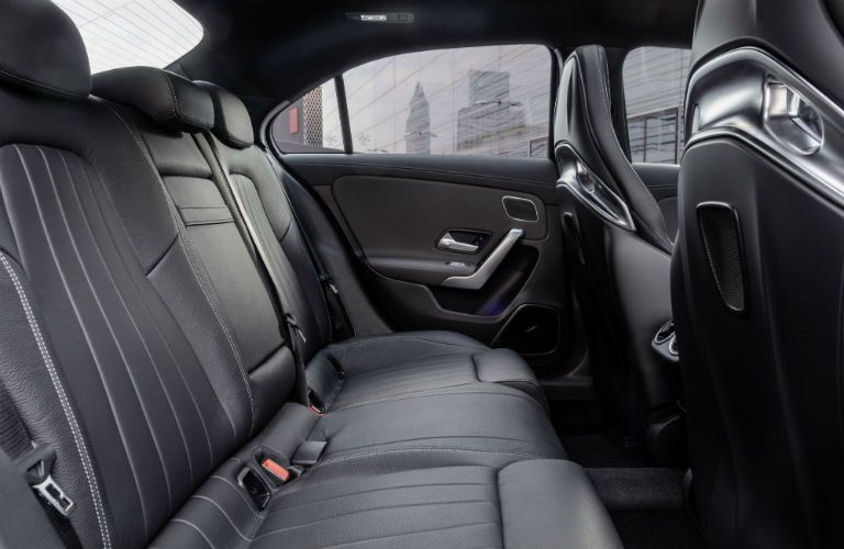 2020 MB AMG A-Class interior back cabin side view of seats