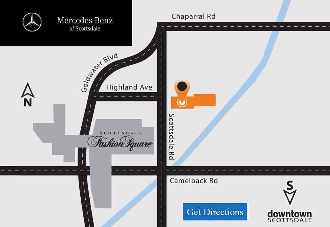Map of Downtown Scottsdale
