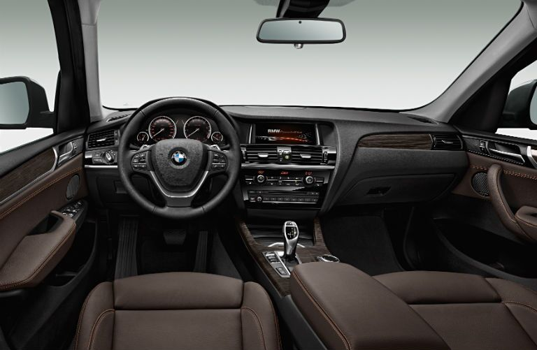 2015 BMW X3 sDrive28i Black Steering Wheel