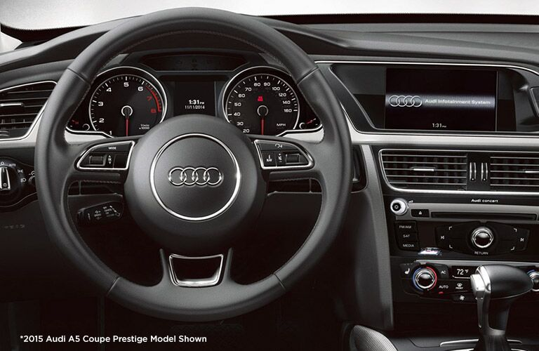 Audi A5 Cabriolet Steering Wheel and Infotainment Screen