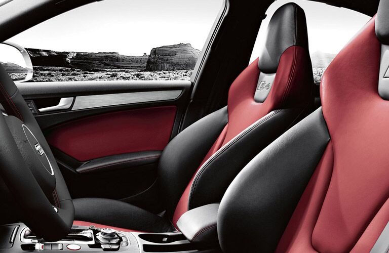 2017 Audi S4 Black and Red Front Racing Seats