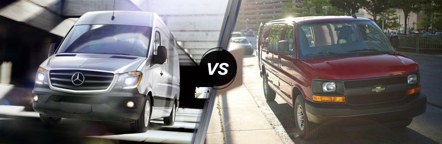 2016 Mercedes-Benz Sprinter vs 2016 Chevy Express
