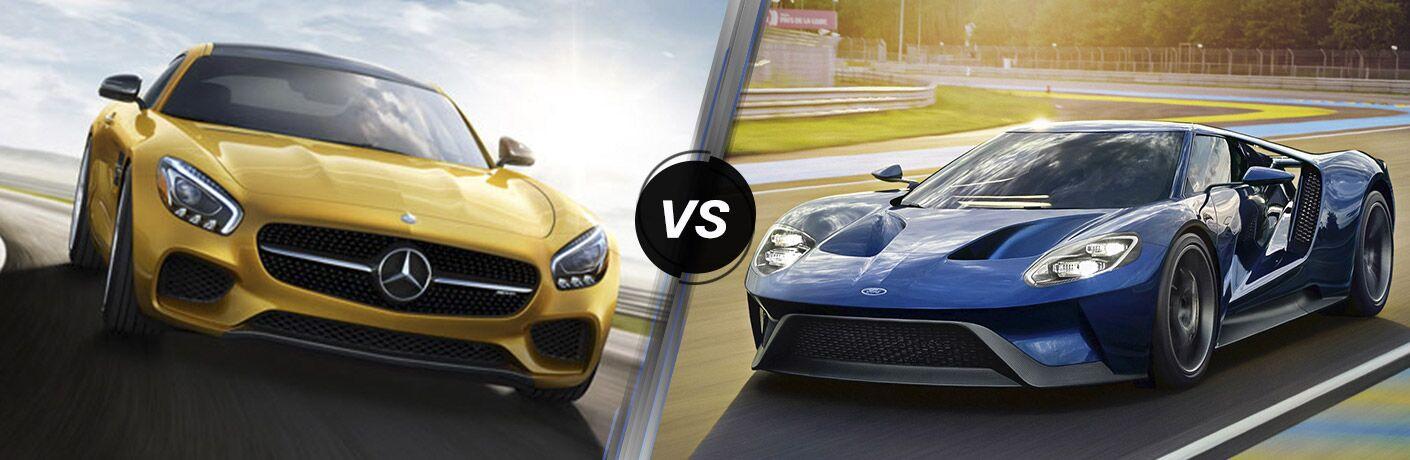 2016 Mercedes-Benz GT S vs 2016 Ford GT