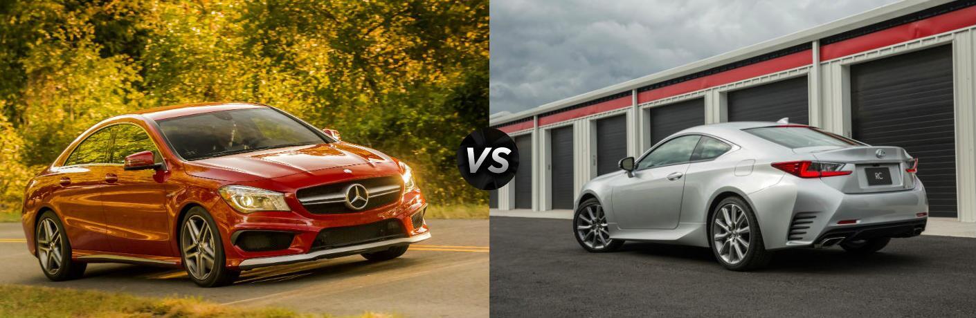 2016 Mercedes-Benz CLA vs 2016 Lexus RC