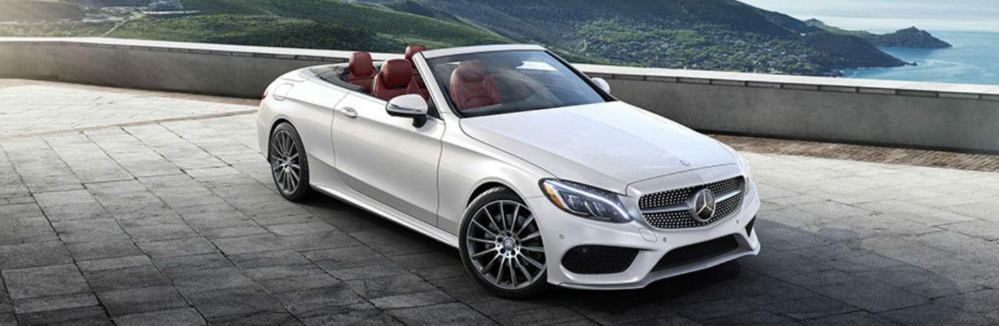 2017 C -Class Cabriolet in White with top down