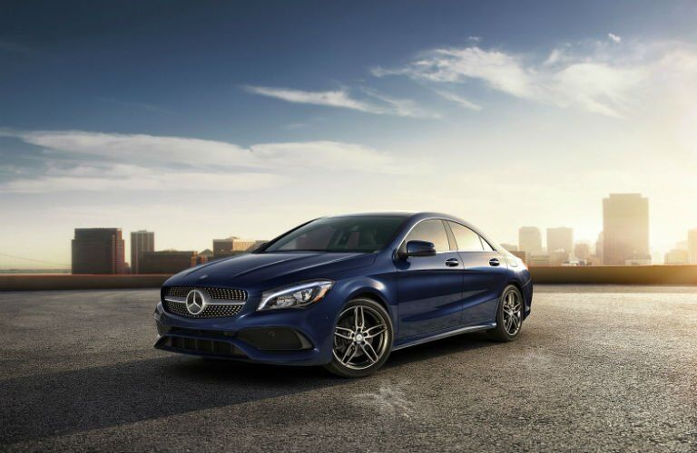 2018 Mercedes-Benz CLA in blue