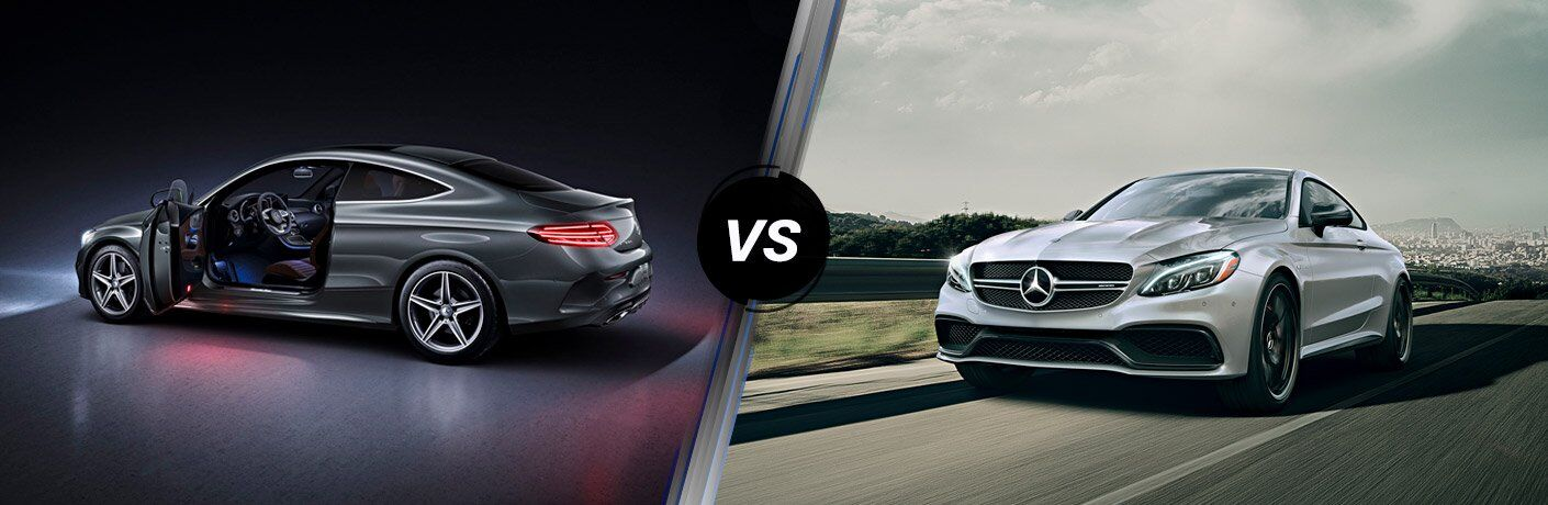 How does the 2017 Mercedes-Benz C 300 compare to the Mercedes-Benz AMG C 63?
